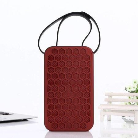 JKR-2 Hexagon Design Bluetooth Speaker - Rood