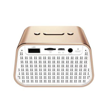 Baseus Baseus Trapezoid Mini Bluetooth Speaker - Goud