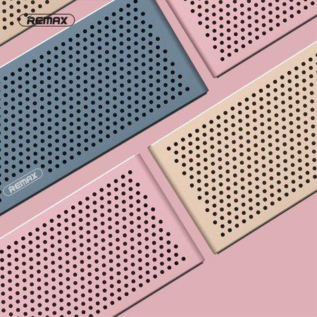 Remax Remax M20 Metalen Bluetooth HD Speaker - Blauw