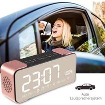 Metalen Wireless Bluetooth 4.0 Speaker met Display - Rozegoud