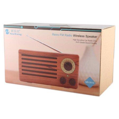 NR-3013 Houten Retro Radio Design Bluetooth Speaker