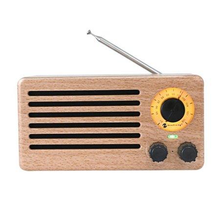 NR-3013 Licht Houten Retro Radio Design Bluetooth Speaker
