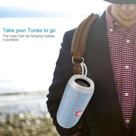 T&G T&G TG117 Bluetooth Speaker Mesh Design Waterbestendig - Grijs / Blauw