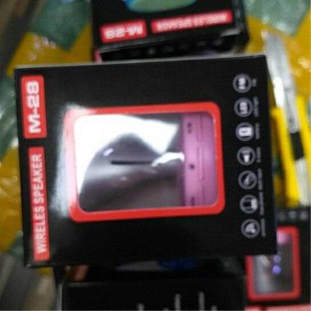 M28 Mini LED Wireless Bluetooth Speaker - Roze