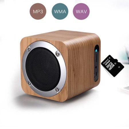 Mini Kubus Design Houten Draadloze Speaker