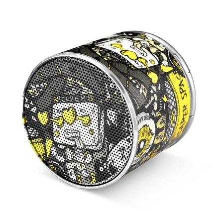Icarer Icarer SPACE BF-120 Mini Bluetooth 4.2 Speaker - Grijs / Geel Design