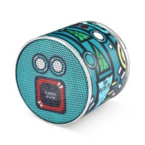 SPACE BF-120 Mini Bluetooth 4.2 Speaker - Cyaan Design