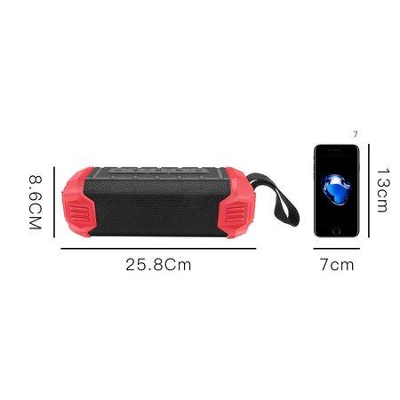 NR-1000 Bluetooth Speaker met Ingebouwde 5000mAh Powerbank - Zwart
