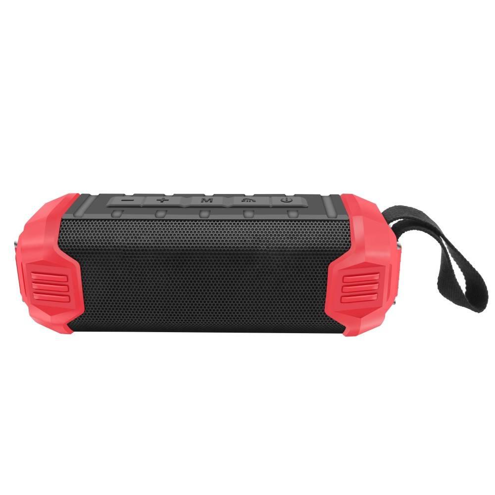 NR-1000 Bluetooth Speaker met Ingebouwde 5000mAh Powerbank - Rood