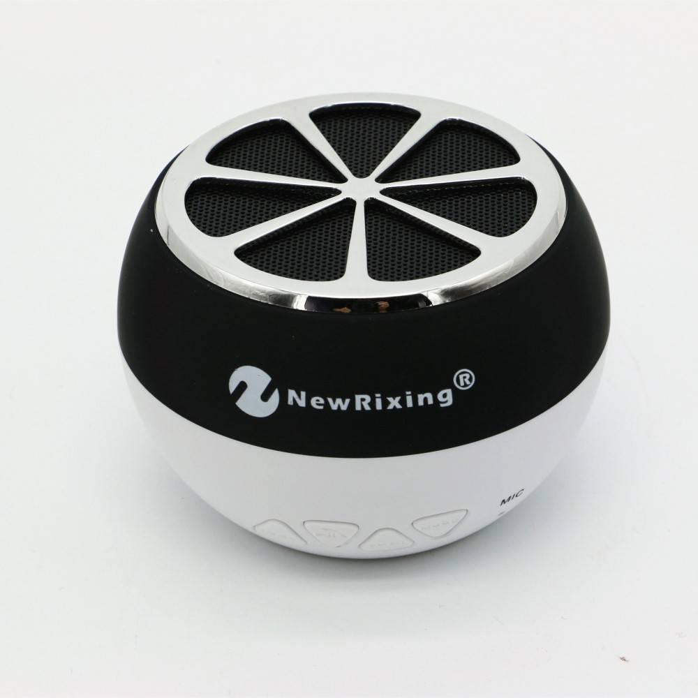 NR-1012 Sinaasappel Design Bluetooth Speaker - Zwart