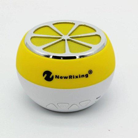 NR-1012 Sinaasappel Design Bluetooth Speaker - Geel