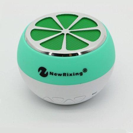 NR-1012 Sinaasappel Design Bluetooth Speaker - Groen