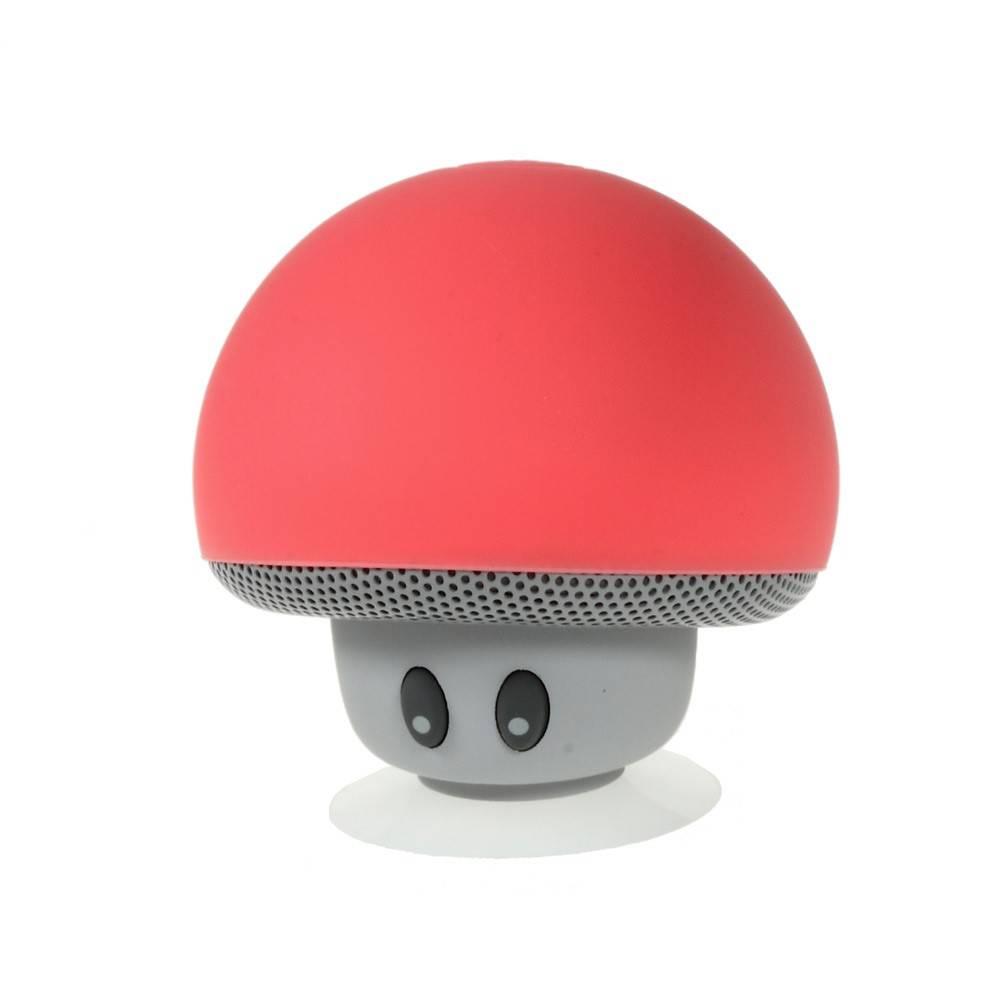Paddenstoel Design Bluetooth Speaker met Zuignap - Rood
