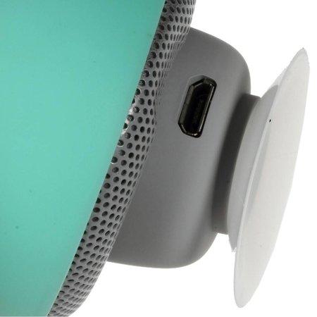 Paddenstoel Design Bluetooth Speaker met Zuignap - Cyaan