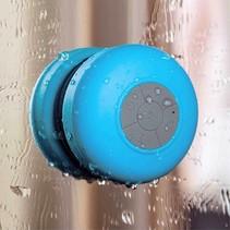Mini Zuignap Bluetooth Speaker voor o.a. in Douche - Blauw