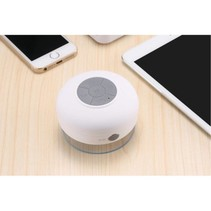 Mini Zuignap Bluetooth Speaker voor o.a. in Douche - Wit