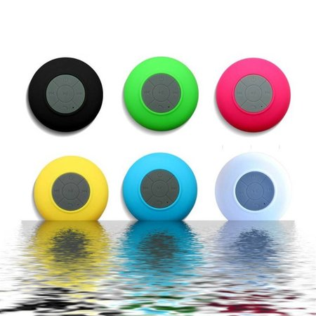 Mini Zuignap Bluetooth Speaker voor o.a. in Douche - Wit