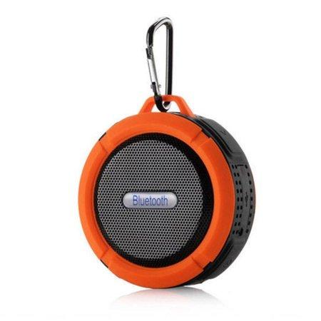 C6 IP65 Zuignap Outdoor Bluetooth Speaker - Oranje
