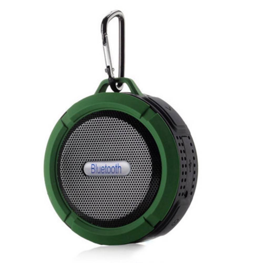 C6 IP65 Zuignap Outdoor Bluetooth Speaker - Groen