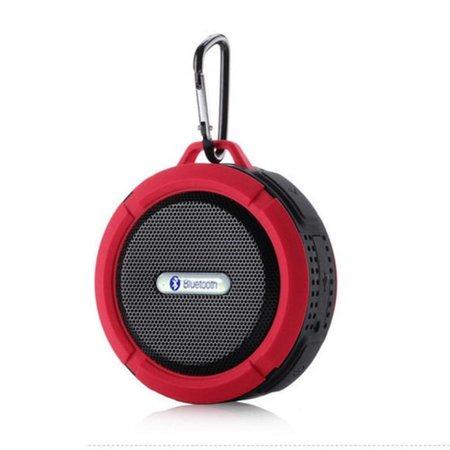 C6 IP65 Zuignap Outdoor Bluetooth Speaker - Rood