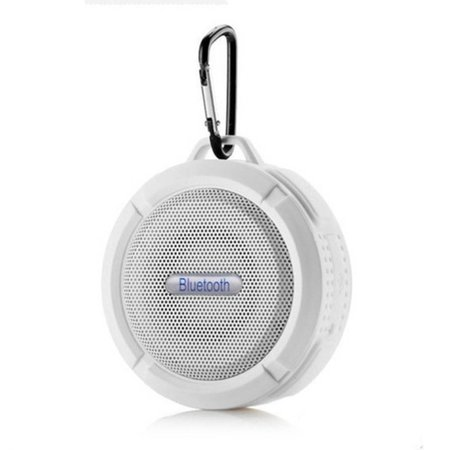 C6 IP65 Zuignap Outdoor Bluetooth Speaker - Wit