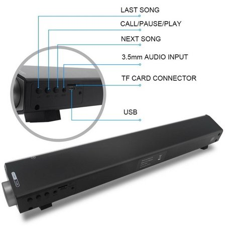 Soundbar Soundbar CE0150 2.1 CH Bluetooth Speaker - Zwart