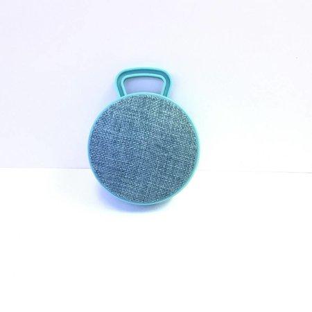 Mini Bluetooth Speaker met Ophanghaakje - Cyaan