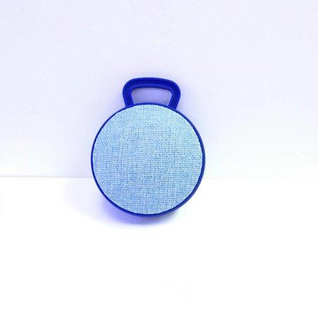 Mini Bluetooth Speaker met Ophanghaakje - Blauw
