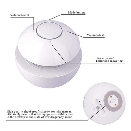BT-118 3D Geluid Bluetooth Speaker met NFC - Wit
