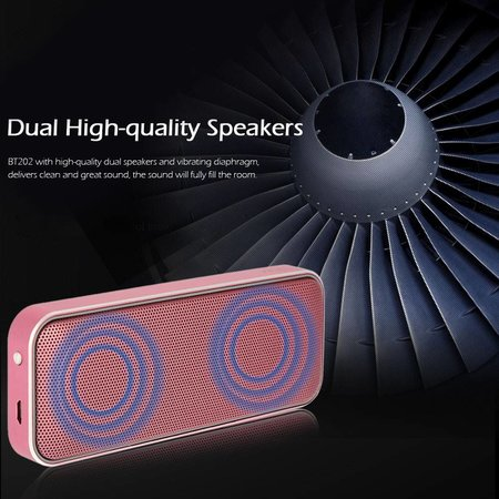 BT202 3D Surround Bluetooth 4.1 Speaker 10W - Roze