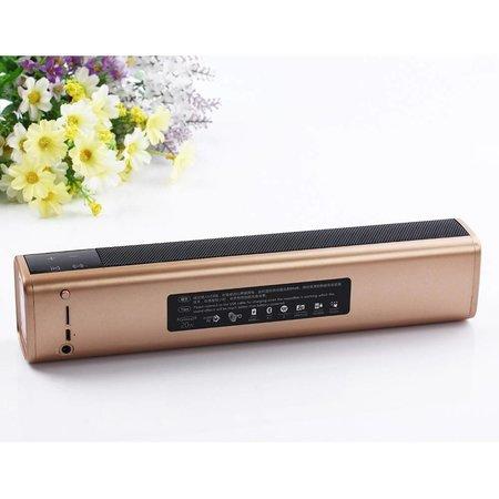JKR JKR KR-1000 Bluetooth V4.1 Speaker met Ingebouwde Powerbank - Goud