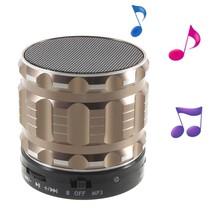 S28 Metalen Mini Bluetooth Speaker - Champagnekleur