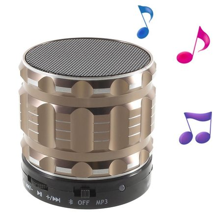 S28 Metalen Mini Bluetooth Speaker - Champagnekleur