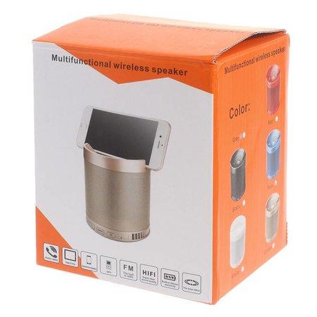 Multifunctionele Bluetooth Speaker met Standfunctie - Wit