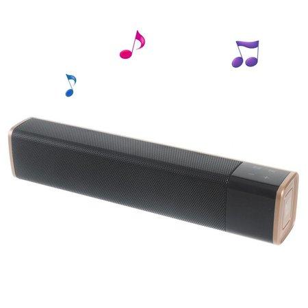 SL-1000S Dual Mega Bass NFC Bluetooth HiFi Speaker - Goud