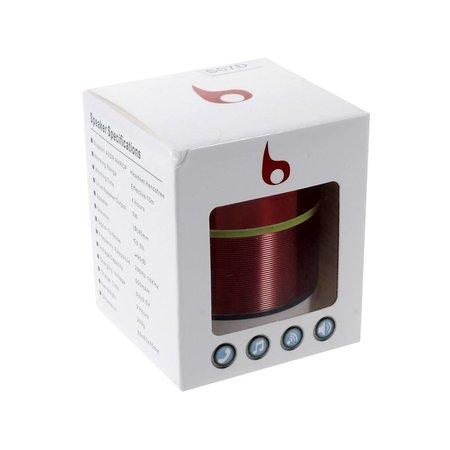 S07D Metalen Bluetooth Speaker - Rood