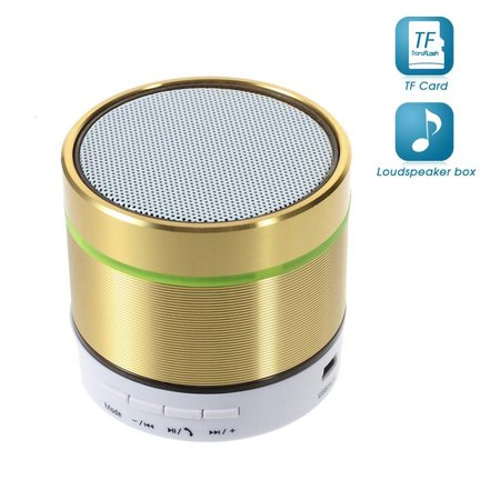 S07D Metalen Bluetooth Speaker - Goud