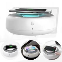 2-in-1 NFC Bluetooth Speaker met Qi Draadloze Oplader - Wit