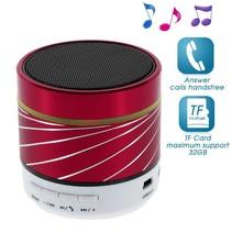 S07 Metalen Bluetooth Speaker - Rood