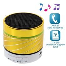 S07 Metalen Bluetooth Speaker - Geel