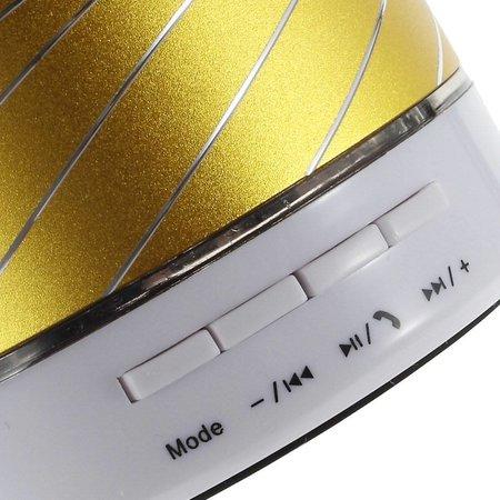 Gaoke Gaoke S07 Metalen Bluetooth Speaker - Geel