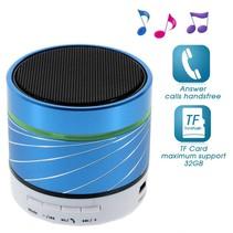 S07 Metalen Bluetooth Speaker - Blauw