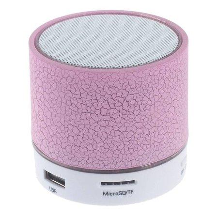 A9 LED Bluetooth Speaker Barstjes Design - Roze