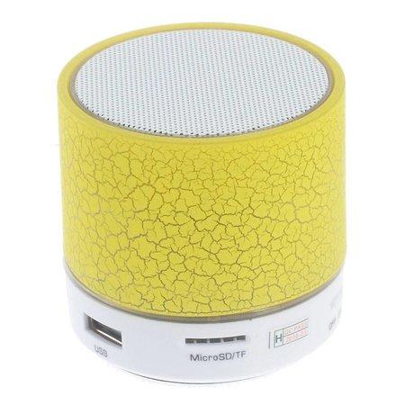 A9 LED Bluetooth Speaker Barstjes Design - Geel