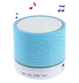 Crack Pattern A9 Stereo Bluetooth Hands-free Speaker with LED Lights Support TF Card - Blauw