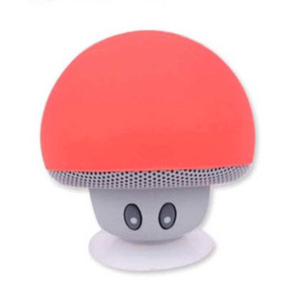 Paddestoel Bluetooth Speaker met Zuignap - Rood