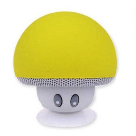 Paddestoel Bluetooth Speaker met Zuignap - Geel