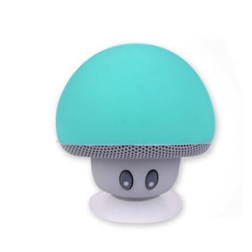 Paddestoel Bluetooth Speaker met Zuignap - Cyaan