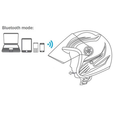 Motorhelm Bluetooth 4.0 Speaker met Handsfree functie