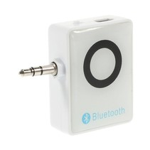 BM-E8 Mini 3.5mm Jack Plug met Bluetooth 3.0 Receiver - Wit